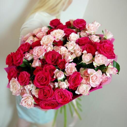 Мега микс пионовидных роз