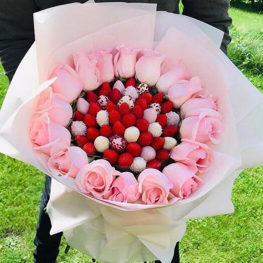 🍓Премиум клубника и розы