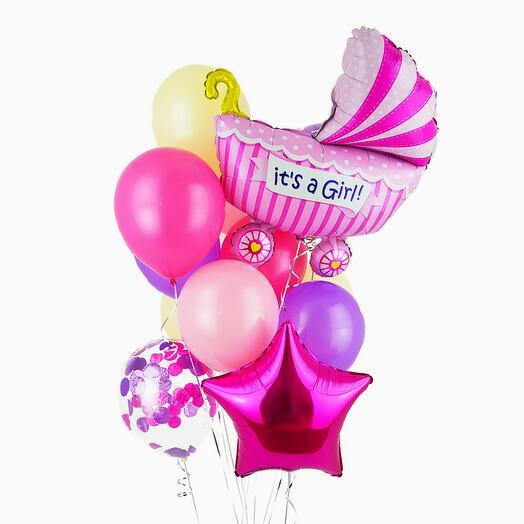 Набор шаров «Это девочка»
