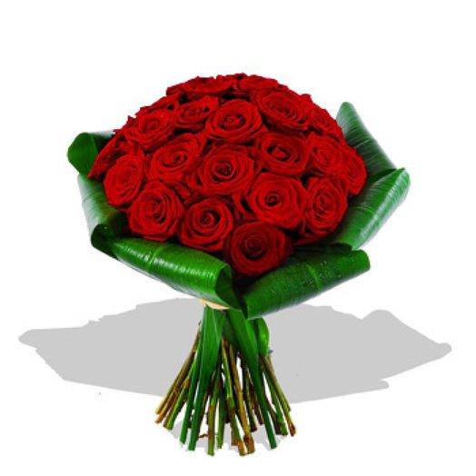 Круглый букет из красных роз значение, пионов