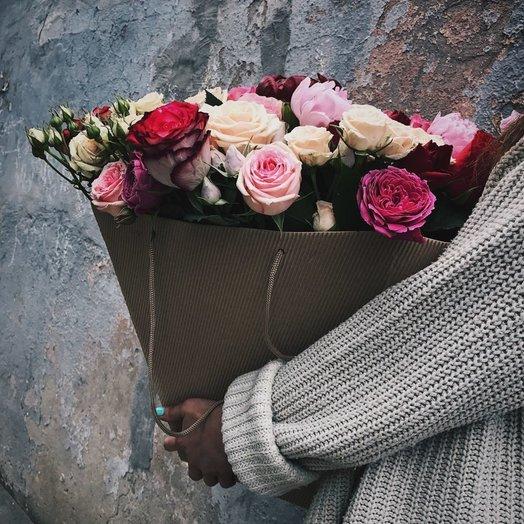 Картонный Цветочный Конус : букеты цветов на заказ Flowwow