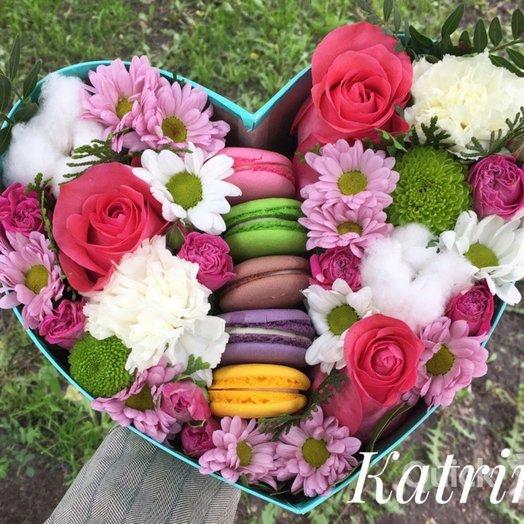 Комплимент с печеньками: букеты цветов на заказ Flowwow