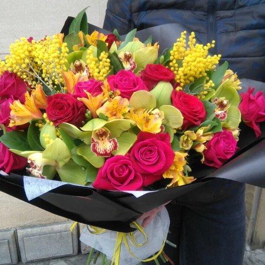 Страстный букет: букеты цветов на заказ Flowwow