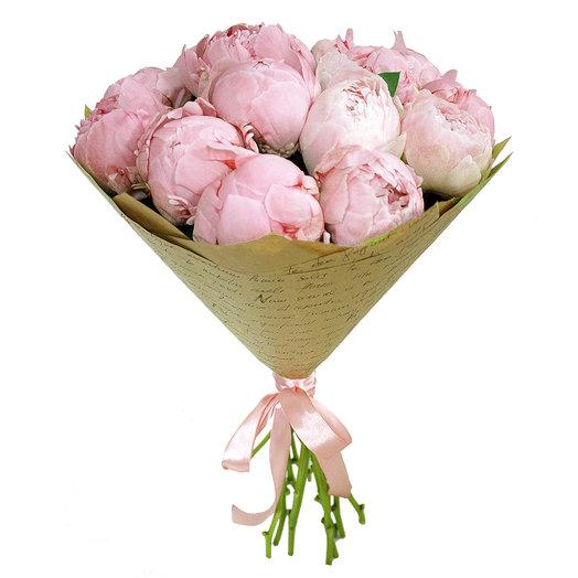 Букет Пионы  11 шт: букеты цветов на заказ Flowwow