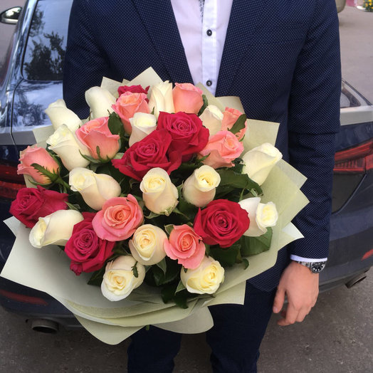 29 роз микс: букеты цветов на заказ Flowwow