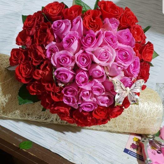 Сердце 3D: букеты цветов на заказ Flowwow