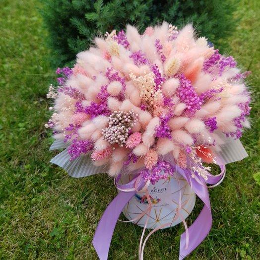 Шляпный из сухоцветов : букеты цветов на заказ Flowwow