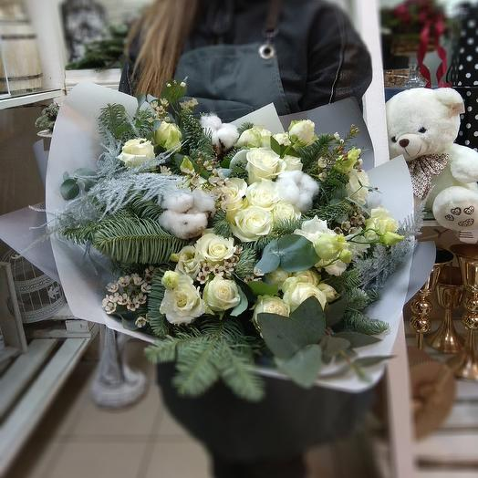 Зимний букет Белоснежка: букеты цветов на заказ Flowwow