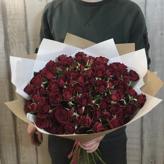 Букет кустовых роз «Бордо»: букеты цветов на заказ Flowwow