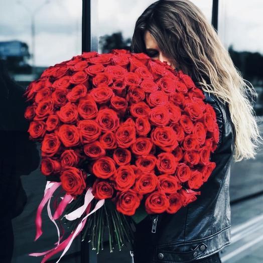 Red 101 (70 см, Red Naomi): букеты цветов на заказ Flowwow
