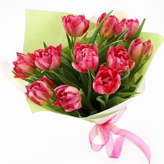 11 пионовидных тюльпанов: букеты цветов на заказ Flowwow