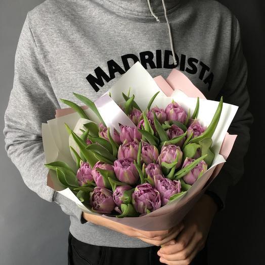 Пионовидные тюльпаны: букеты цветов на заказ Flowwow