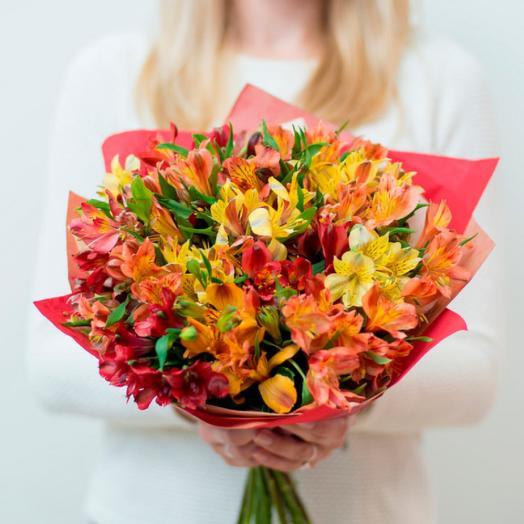 Микс альстромерия: букеты цветов на заказ Flowwow