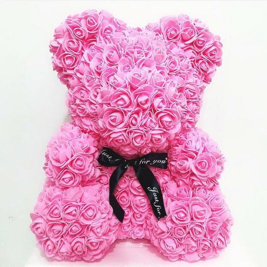 Мишка роз: букеты цветов на заказ Flowwow