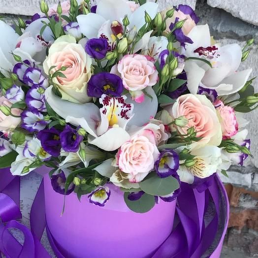 """Орхидейный аквариум """"Эксклюзив"""": букеты цветов на заказ Flowwow"""