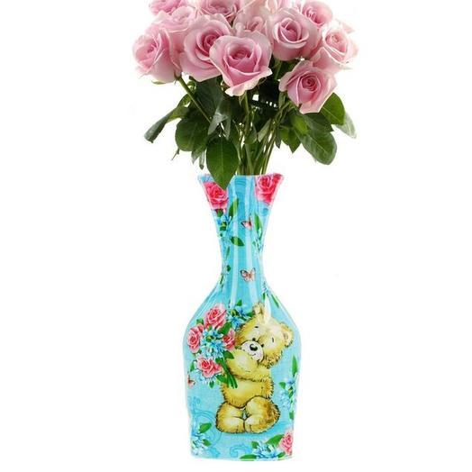 Нежная роза в пластиковой вазе: букеты цветов на заказ Flowwow