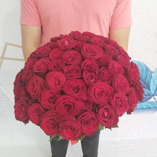 Букет 51 красная роза: букеты цветов на заказ Flowwow