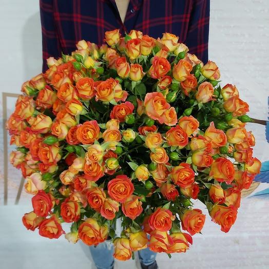 Букет из 40 кустовых роз: букеты цветов на заказ Flowwow