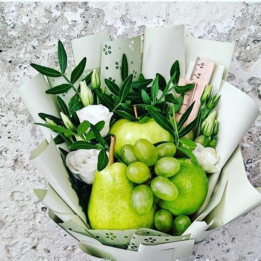 Фруктовый букет на 1 сентября: букеты цветов на заказ Flowwow