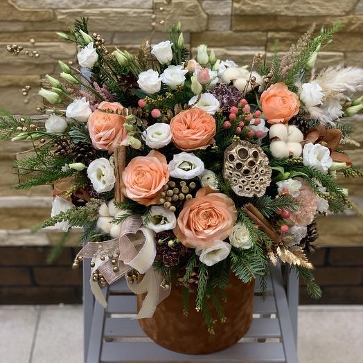 Новогоднее настроение: букеты цветов на заказ Flowwow