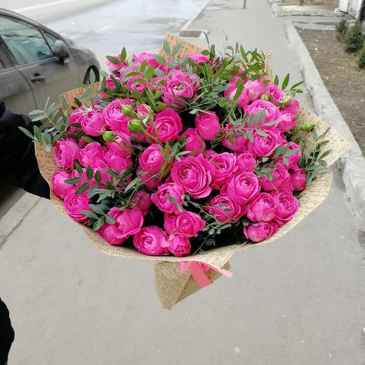 Пионовидные кустовые розы: букеты цветов на заказ Flowwow