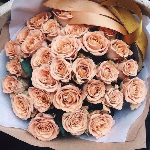 Роза «Капучино»: букеты цветов на заказ Flowwow