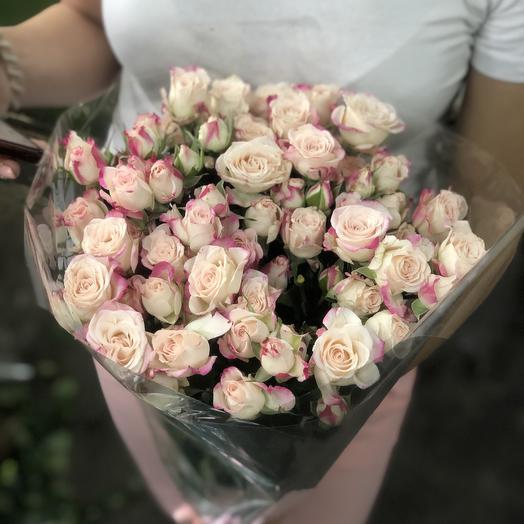 Кустовые розы нежно розовые 29 Шт: букеты цветов на заказ Flowwow