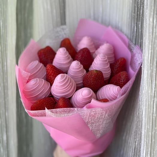 A bouquet of Strawberries in Chocolate XS