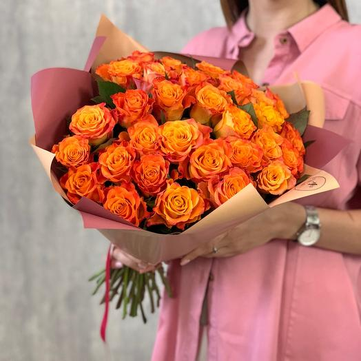 31 bouquet of orange roses