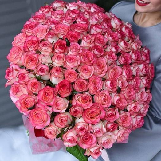 """Букет из розовых роз """"Нежность и восхищение"""""""