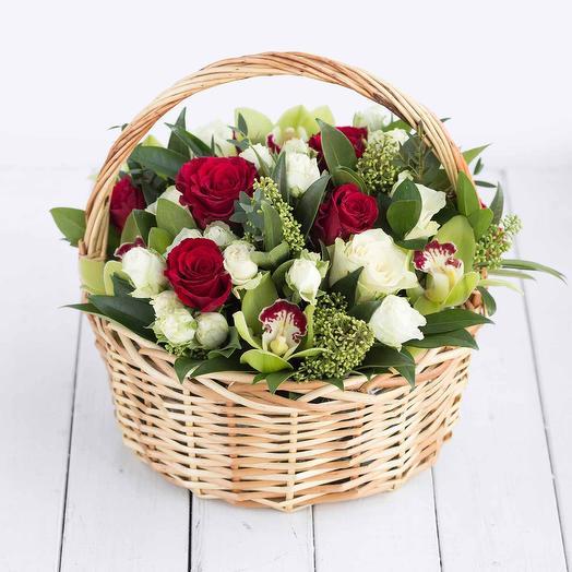 Корзина с цветами Мисс Бомбастик