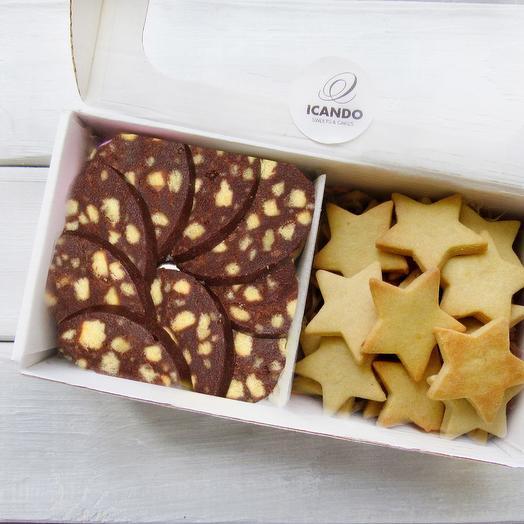 """""""Шоколадная колбаска и песочное печенье"""", набор мини"""