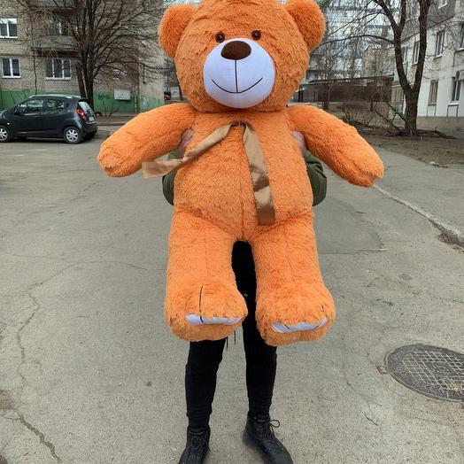 Плюшевий ведмедик 130 см карамельний