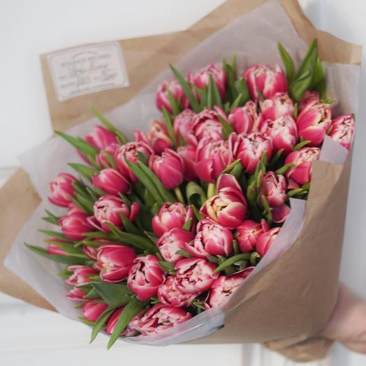 Пионовидный тюльпан розовый Columbus (51 шт)
