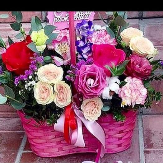 Корзина с цветами «Грация»