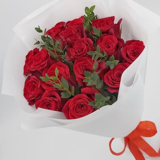 Роза Красная 15 шт