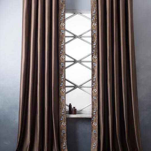 Комплект штор Шарлиз Коричневый, 200х280 см - 2 шт