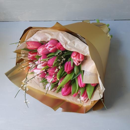 """Букет из тюльпанов """"Rose gold"""""""