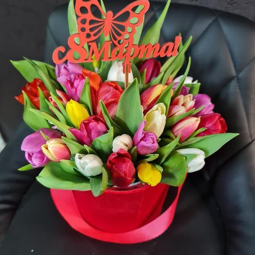 Коробочка тюльпан