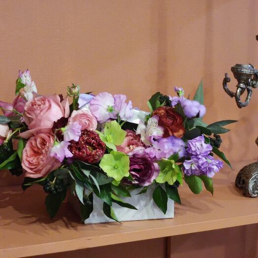 """Цветы в коробке """" Леди Ди"""""""