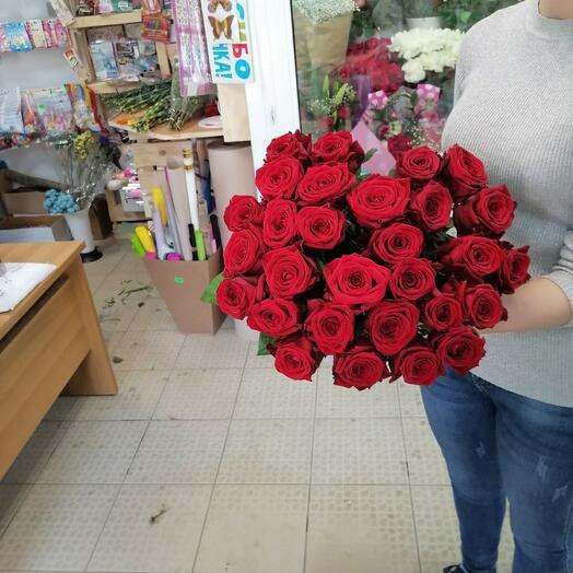 Монобукет из 29 роз