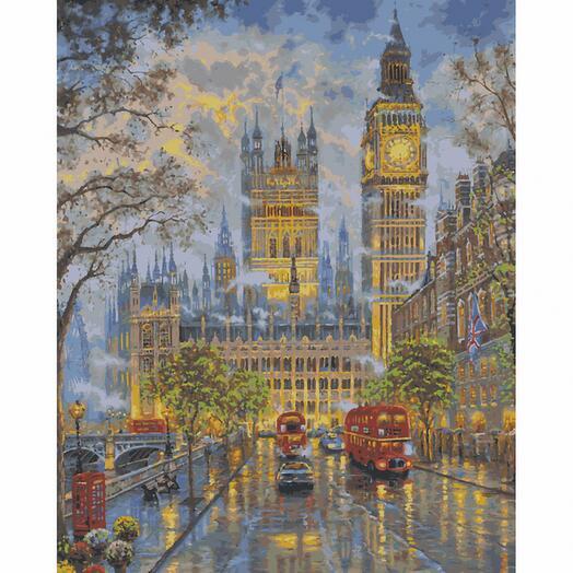 Картина по номерам Прогулка в Лондоне