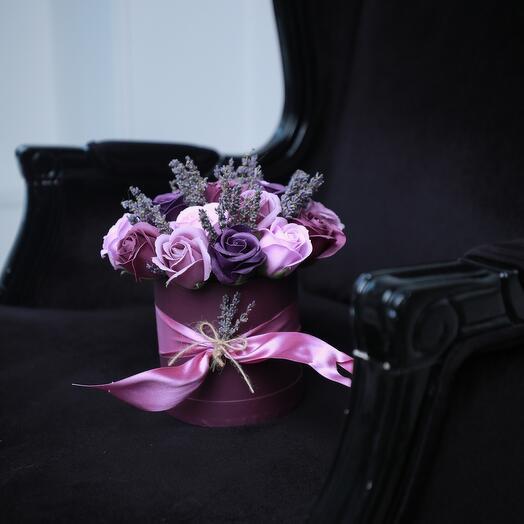 Букет из мыльных цветов и лаванды
