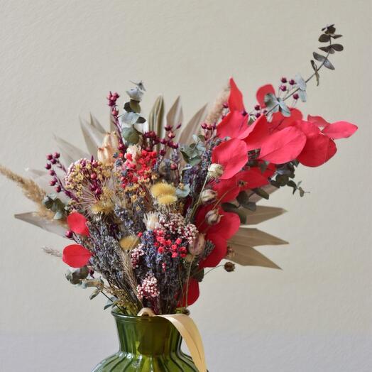 Большой букет из сухоцветов