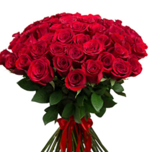 Букет из 51 красной розы, (Эквадор)