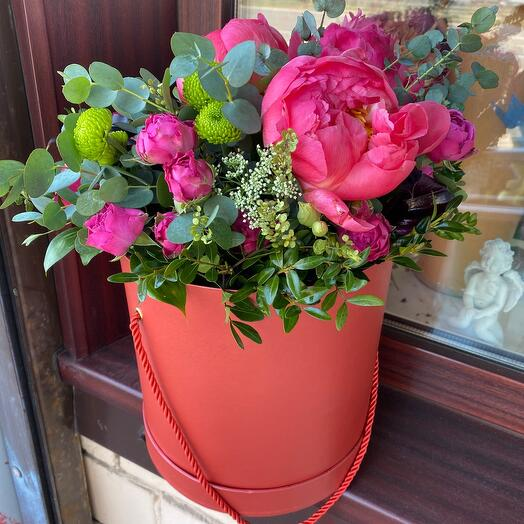 Цветы в коробке Леди Шарм