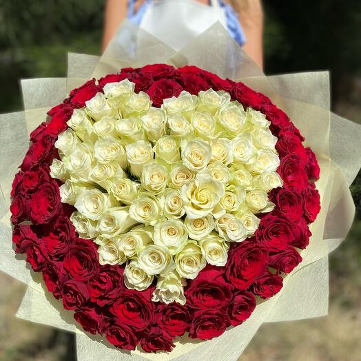 101 Роза сердцем