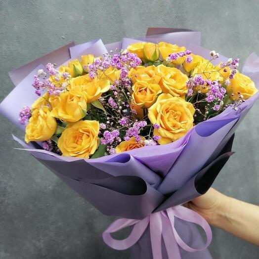 Sunday (розы и гипсофила)