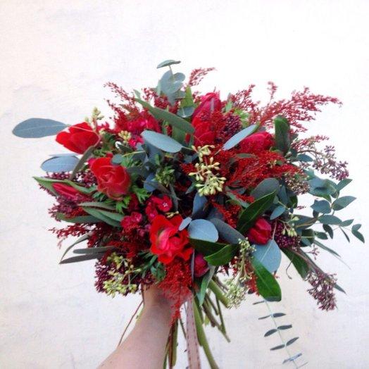 Букет Пламенные чувства: букеты цветов на заказ Flowwow