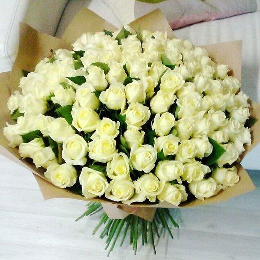 101 белая роза